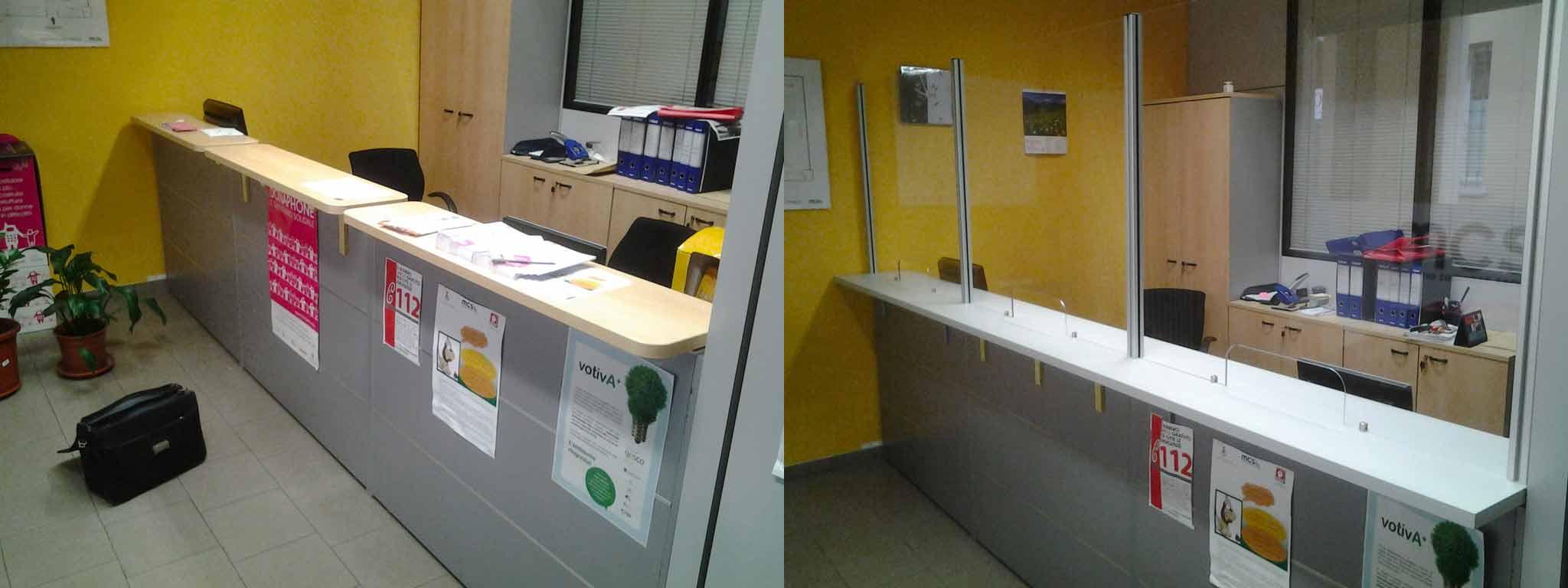 Riconfigurazione reception for Arredi per ufficio milano