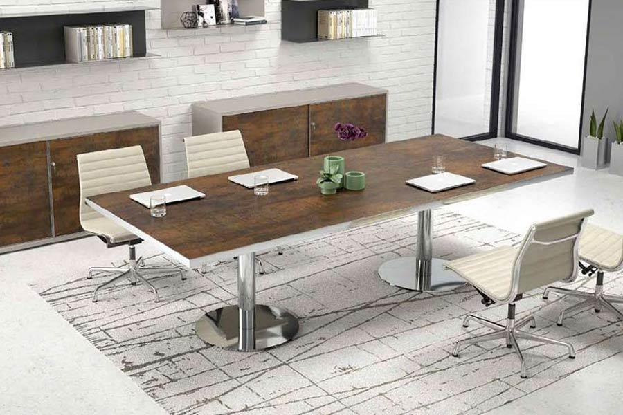 tavoli da riunione per ufficio a milano in legno rotondi