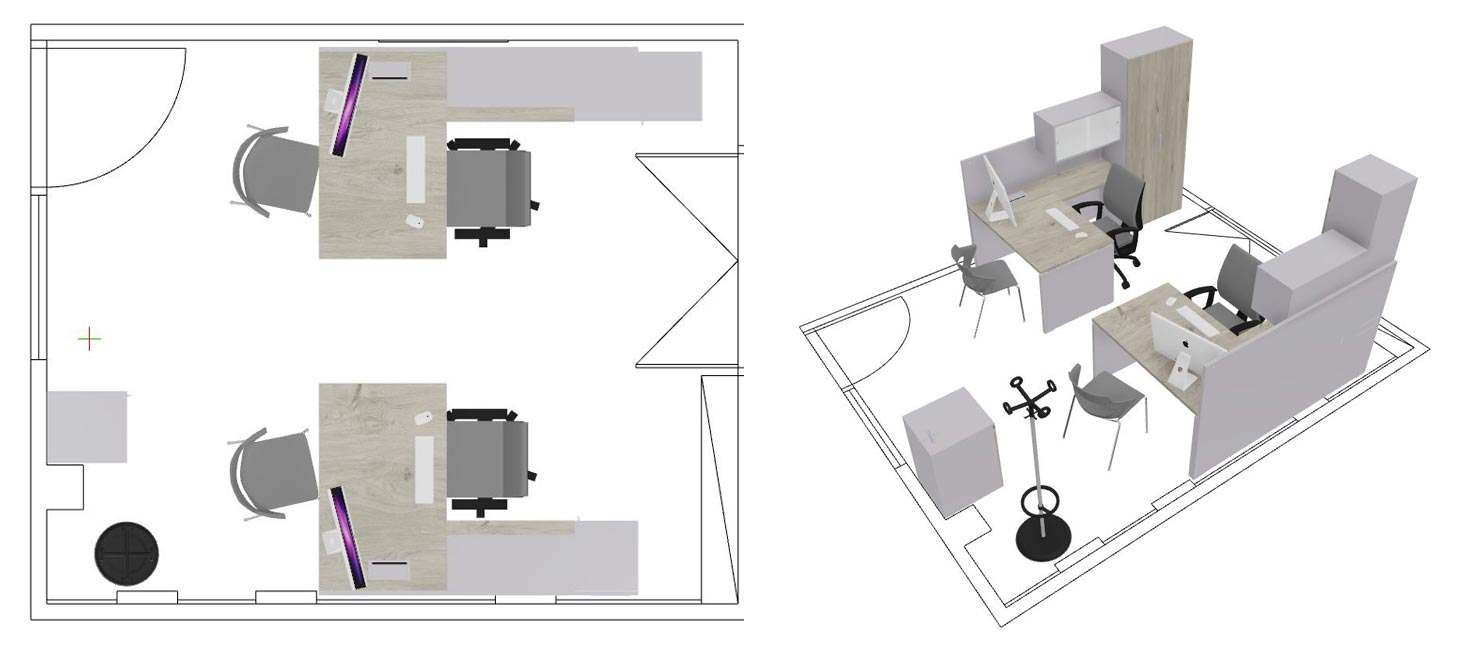 Progetto Emes: arredare l ufficio di un azienda di Trasporto Marino