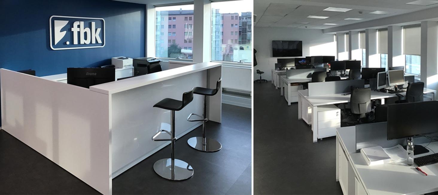 Realizzazione arredi ufficio per open space